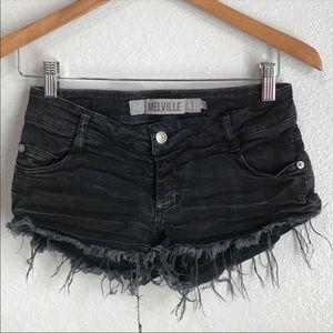 Brandy Melville Cutoff Black Shorts Sz 40